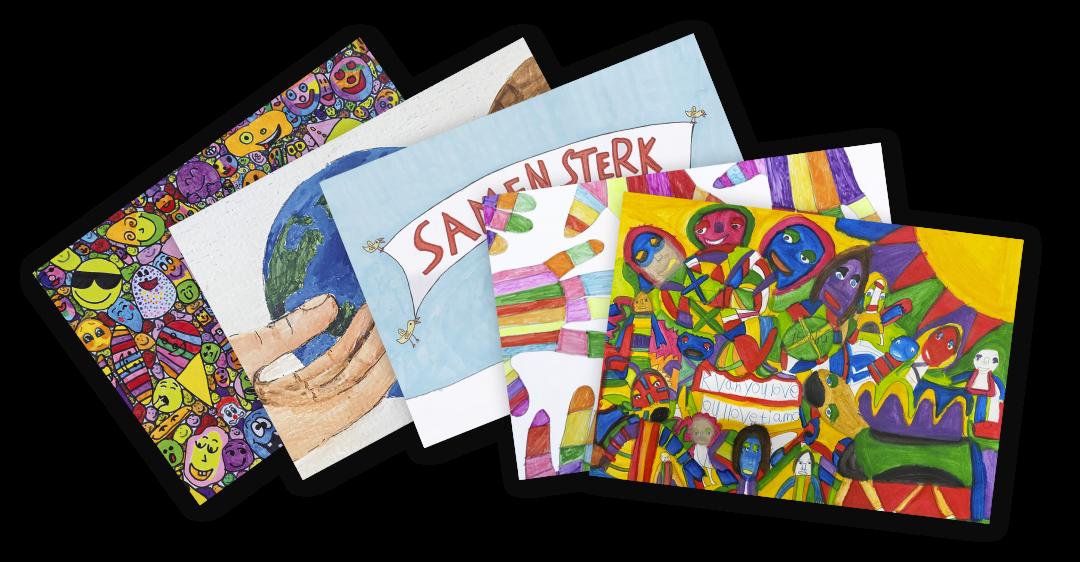 Ansichtkaarten, set van 5 kaarten